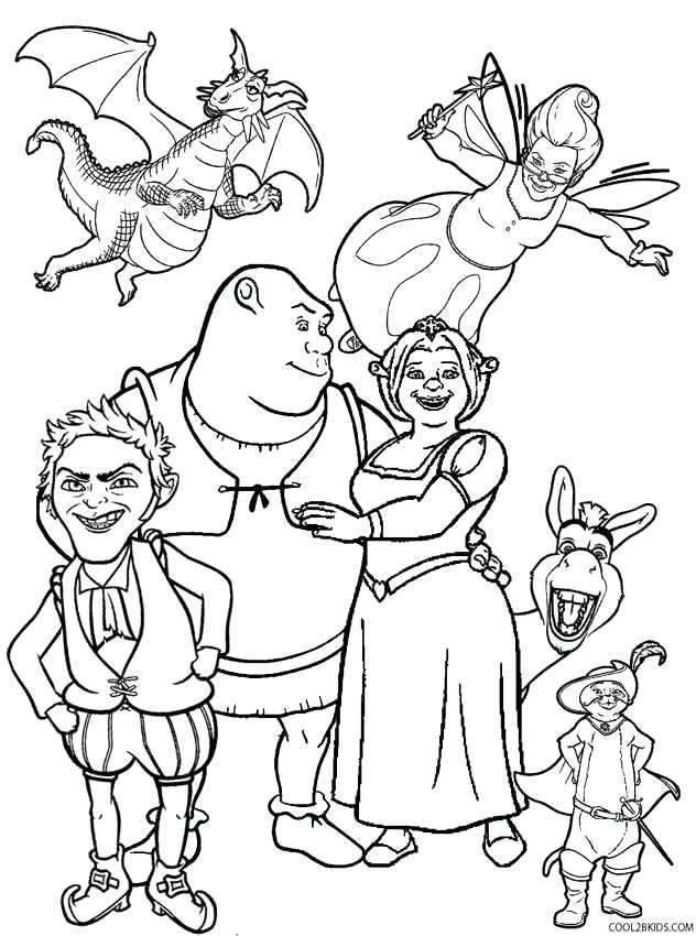 632x850 Shrek Coloring Pages Best Coloring Pages Kids Games Forever After
