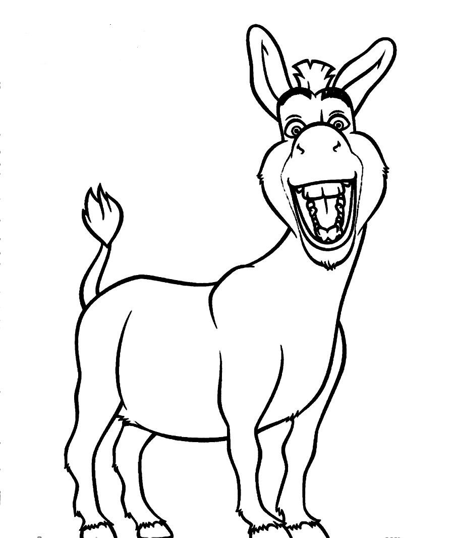 900x1066 Free Coloring Pages Of Donkey From Shrek Vbs, Church