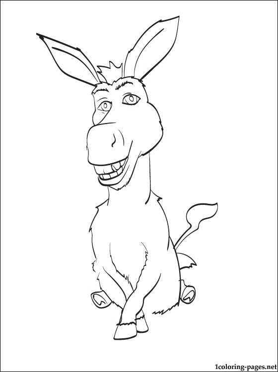 560x750 Penciling To Color Donkey Of Shrek Coloring Pages
