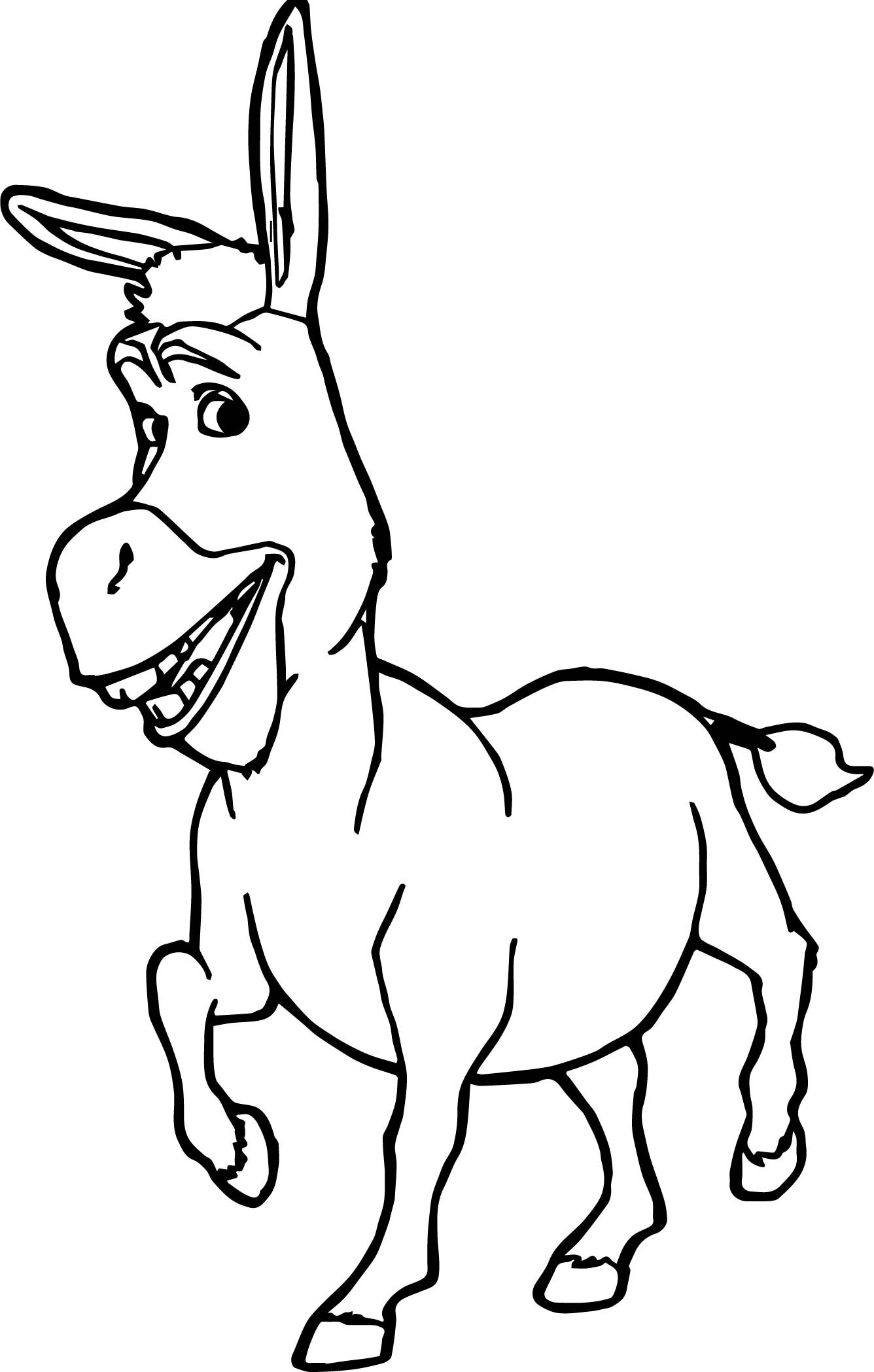 1336x2098 Revisited Donkey Coloring Page Shrek And Pages Printable For Kids
