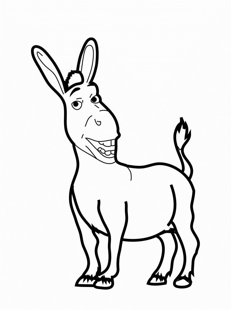 764x1024 Shrek Coloring Pages Luxury Free Printable Donkey Coloring Pages