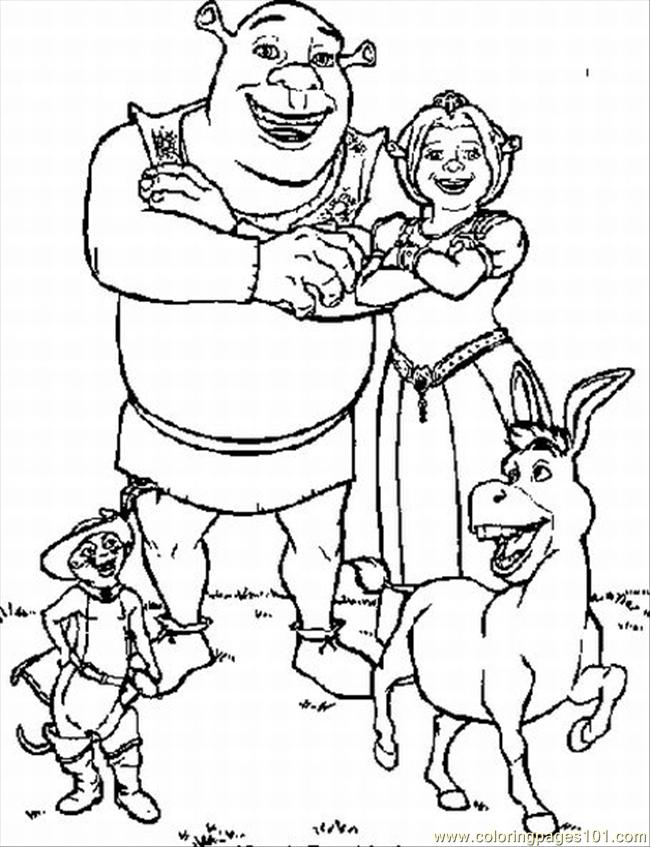650x847 Coloring Pages For Shrek Lrg Coloring Page