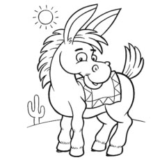 230x230 Top Free Printable Donkey Coloring Pages Online