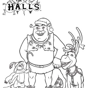 300x300 Donkey Coloring Pages For Christmas