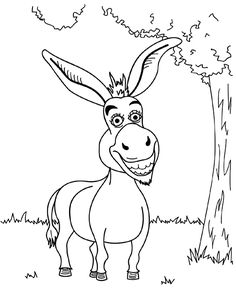 236x305 Donkey Happy Shrek Coloring Pages Donkey, Kids Net