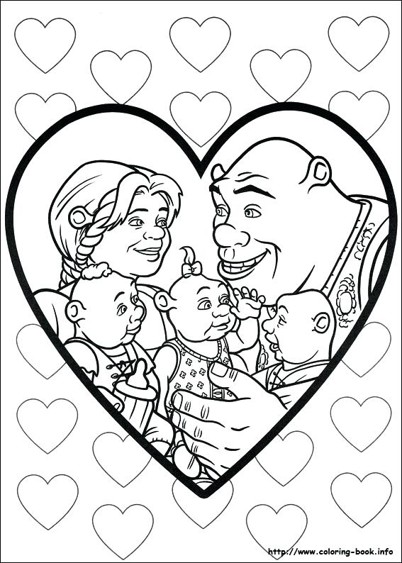 567x794 Shrek Coloring Pages Shrek Coloring Page Forever After Coloring