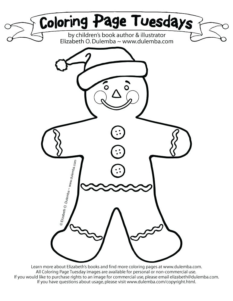 773x1000 Gingerbread Man Coloring Pages Image Of Printable Page For Kids