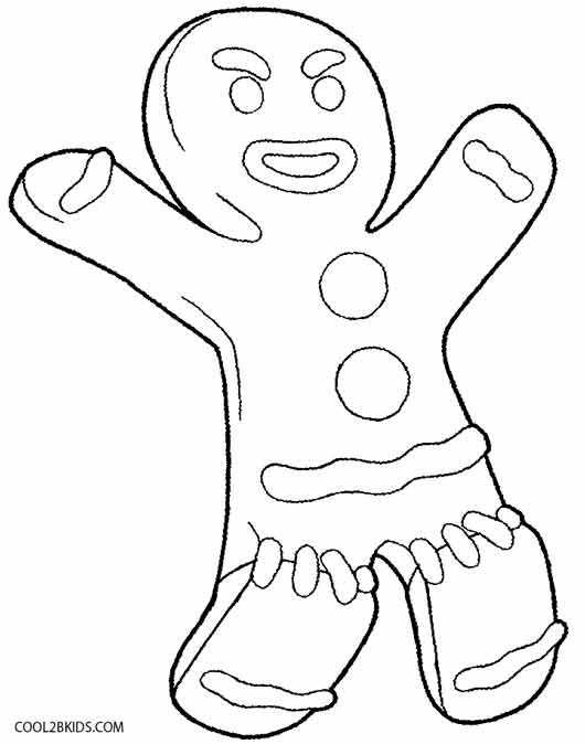 530x674 Shrek Gingerbread Man Coloring Pages