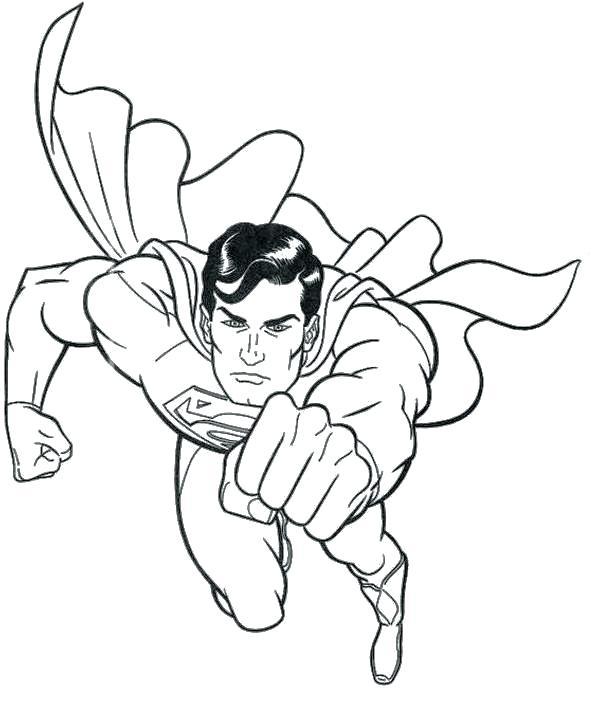600x705 Super Man Coloring Pages Handsome Superman Coloring Page Superman