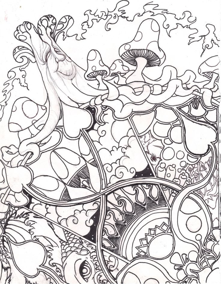 Shroom Coloring Pages