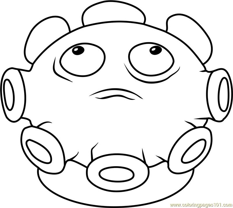 800x713 Gloom Shroom Coloring Page