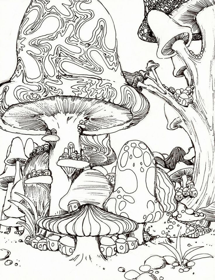 736x958 Psychedelic Mushroom Coloring Pages American Hippie Ltbgtcoloringlt