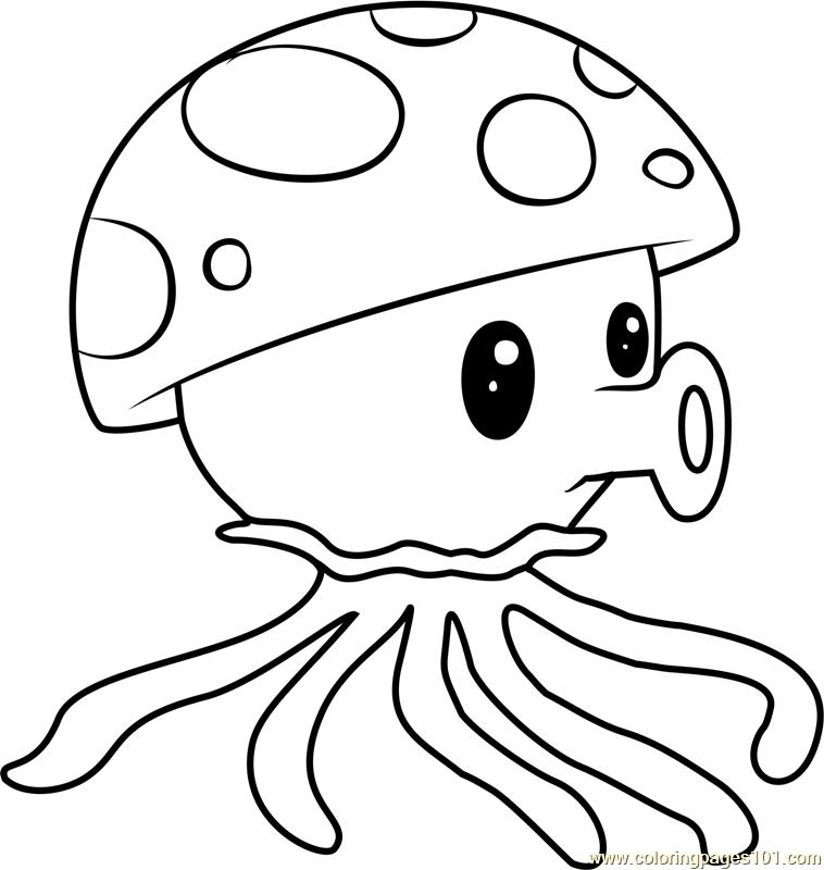 758x800 Sea Shroom Coloring Page