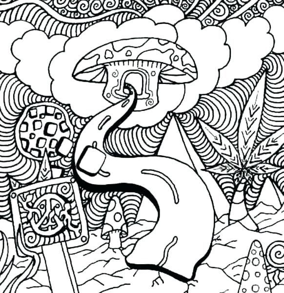 582x600 Trippy Mushroom Coloring Pages Mushroom Coloring Pages Coloring