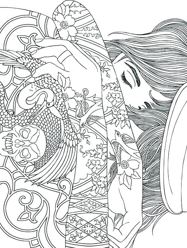 600x797 Trippy Mushroom Coloring Pages Mushroom Coloring Pages Mushroom