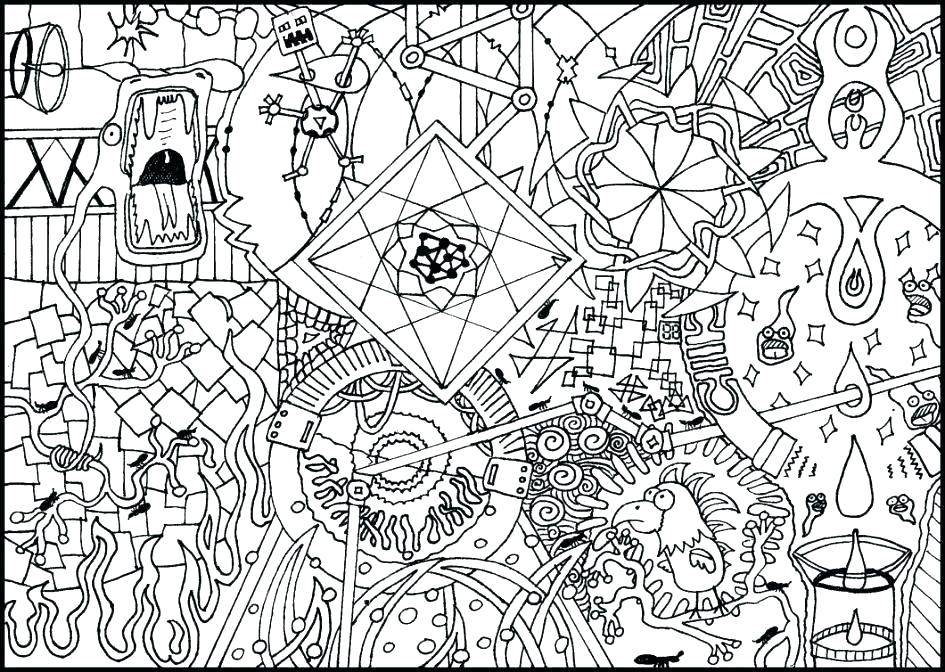 945x672 Trippy Mushroom Coloring Pages Mushroom Coloring Pages With Flower