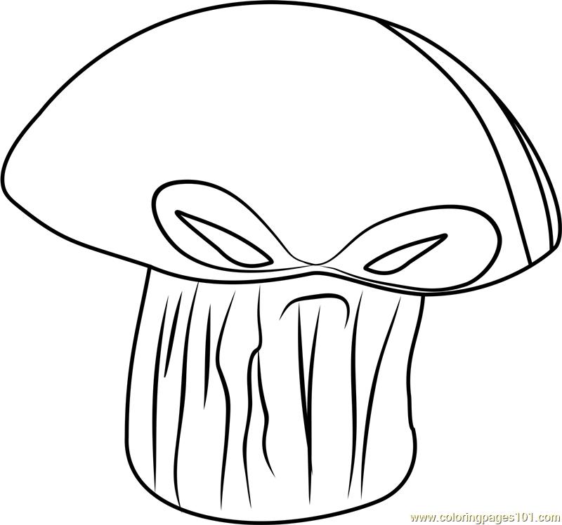 800x748 Doom Shroom Coloring Page