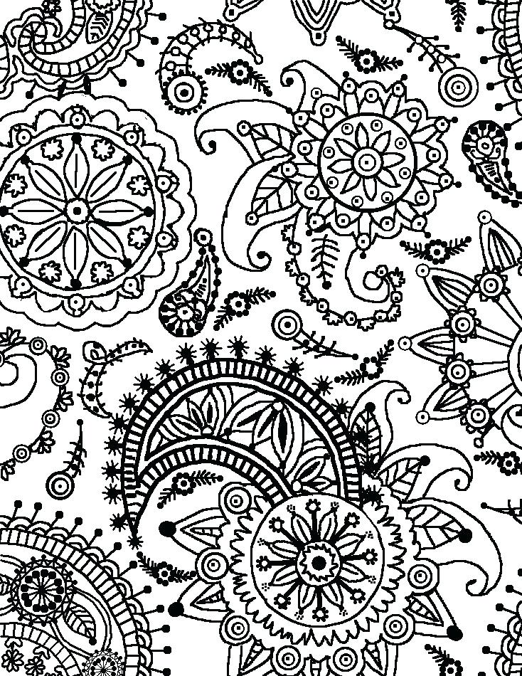 734x950 Flower Pattern Coloring Pages Floral Pattern Pattern Of Flower