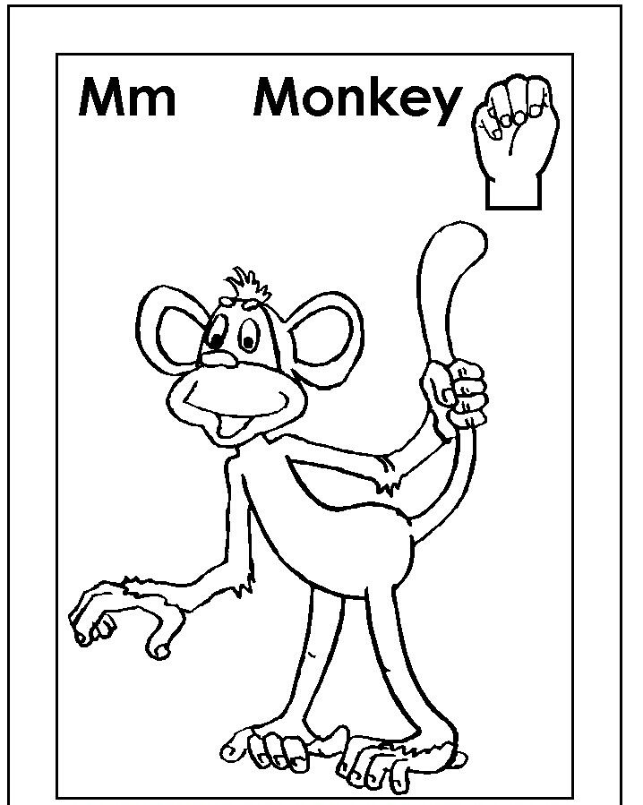 Sign Language Coloring Pages