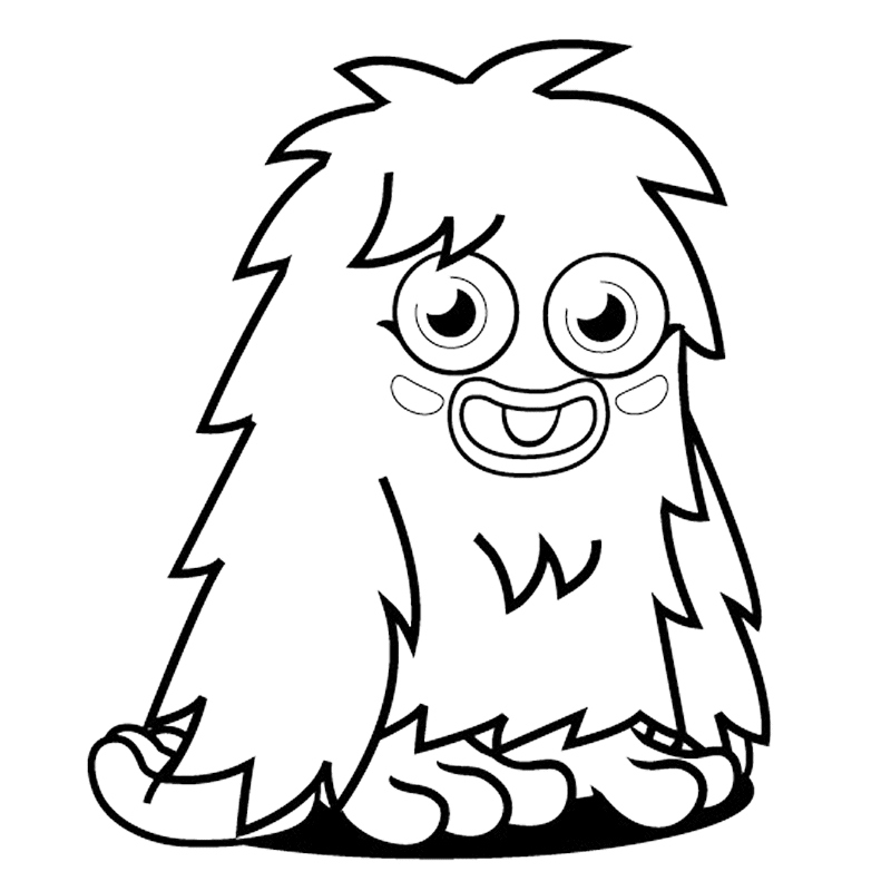 Silly Monster Coloring Pages