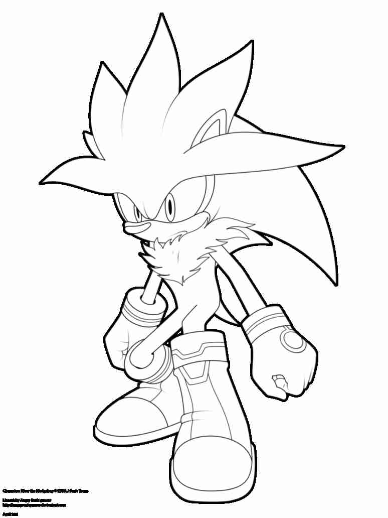 774x1032 Silver The Hedgehog Coloring Pages Throughout Olegratiy
