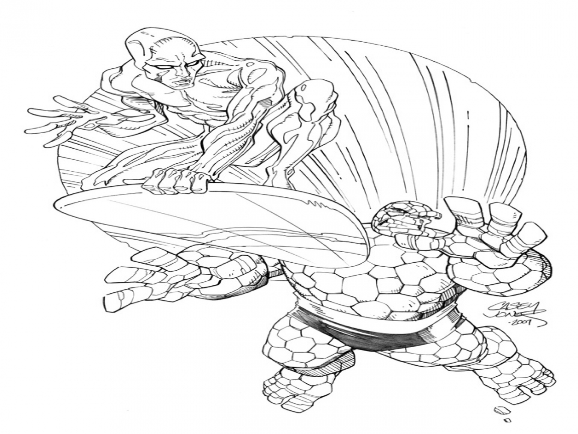 1152x864 Silver Surfer Coloring Pages