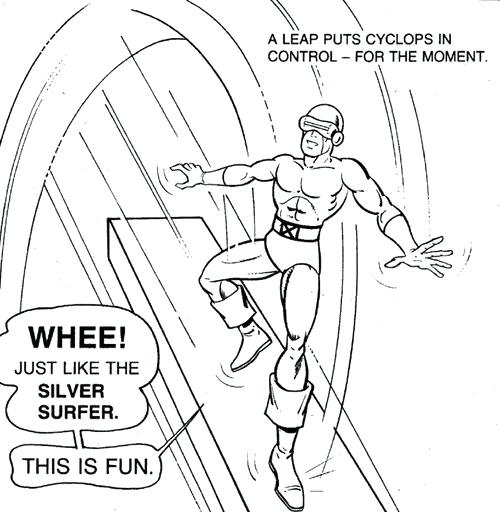 500x512 Silver Surfer Coloring Pages Cyclops Lego Silver Surfer Coloring