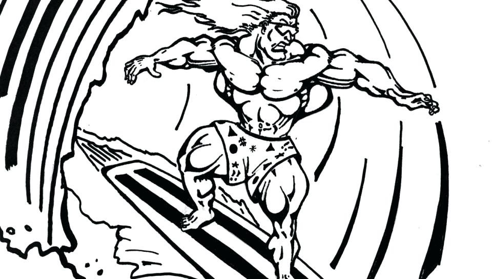 960x544 Surfing Coloring Pages Printable Excellent Surfer Coloring Pages