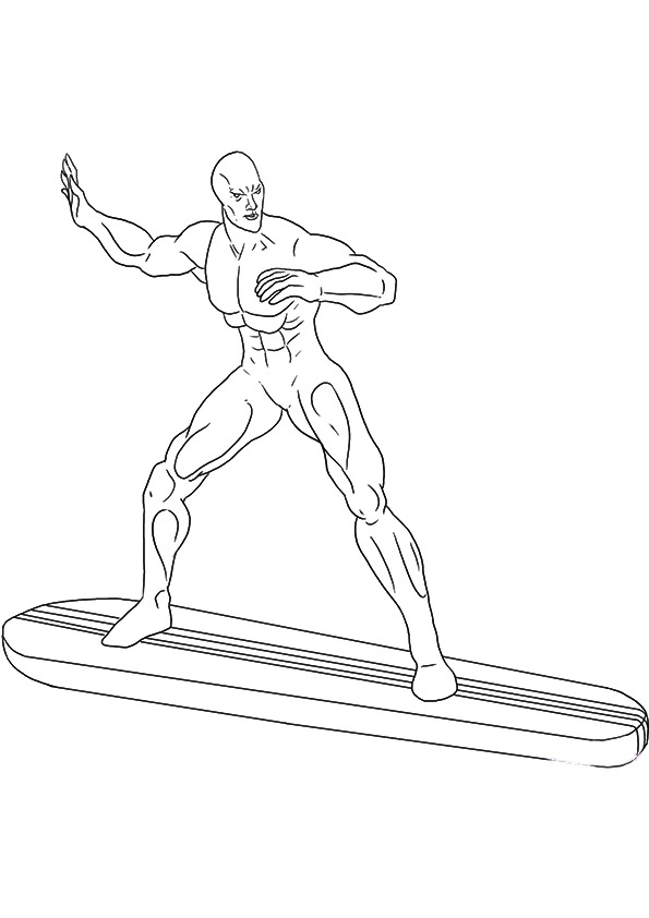 595x842 The Silver Surfer Coloring Pages