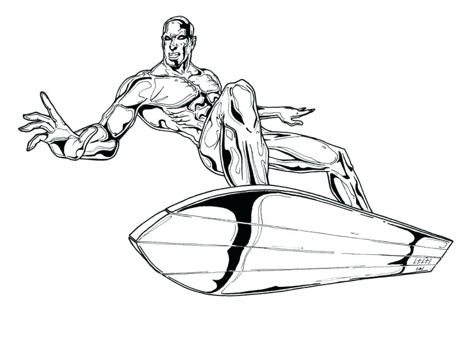 900x660 Silver Surfer Coloring Pages