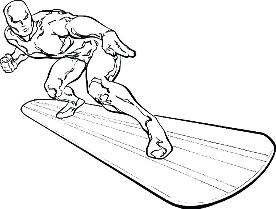 900x684 Silver Surfer Coloring Pages