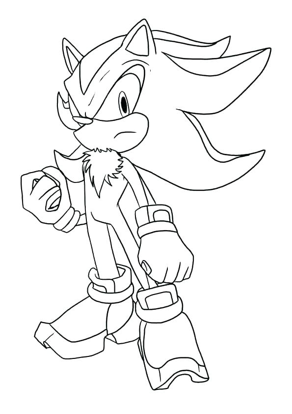 595x842 Shadow Coloring Page Sonic The Hedgehog Coloring Pages Printable