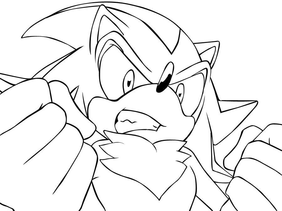 900x674 Shadow The Hedgehog Coloring Pages