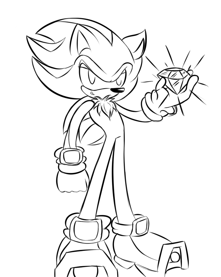 720x900 Shadow The Hedgehog Coloring Pages