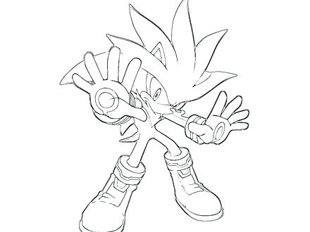440x330 Silver Hedgehog Coloring Pages Sonic Generations Silver
