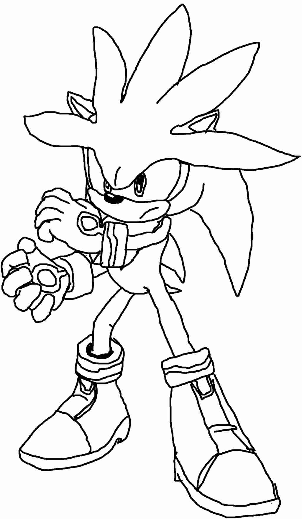 1024x1755 Important Silver The Hedgehog Coloring Pages P