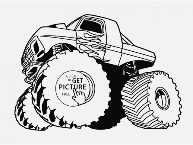 640x480 Coloring Pages Of Jacked Up Trucks Images Wunderbar Chevy