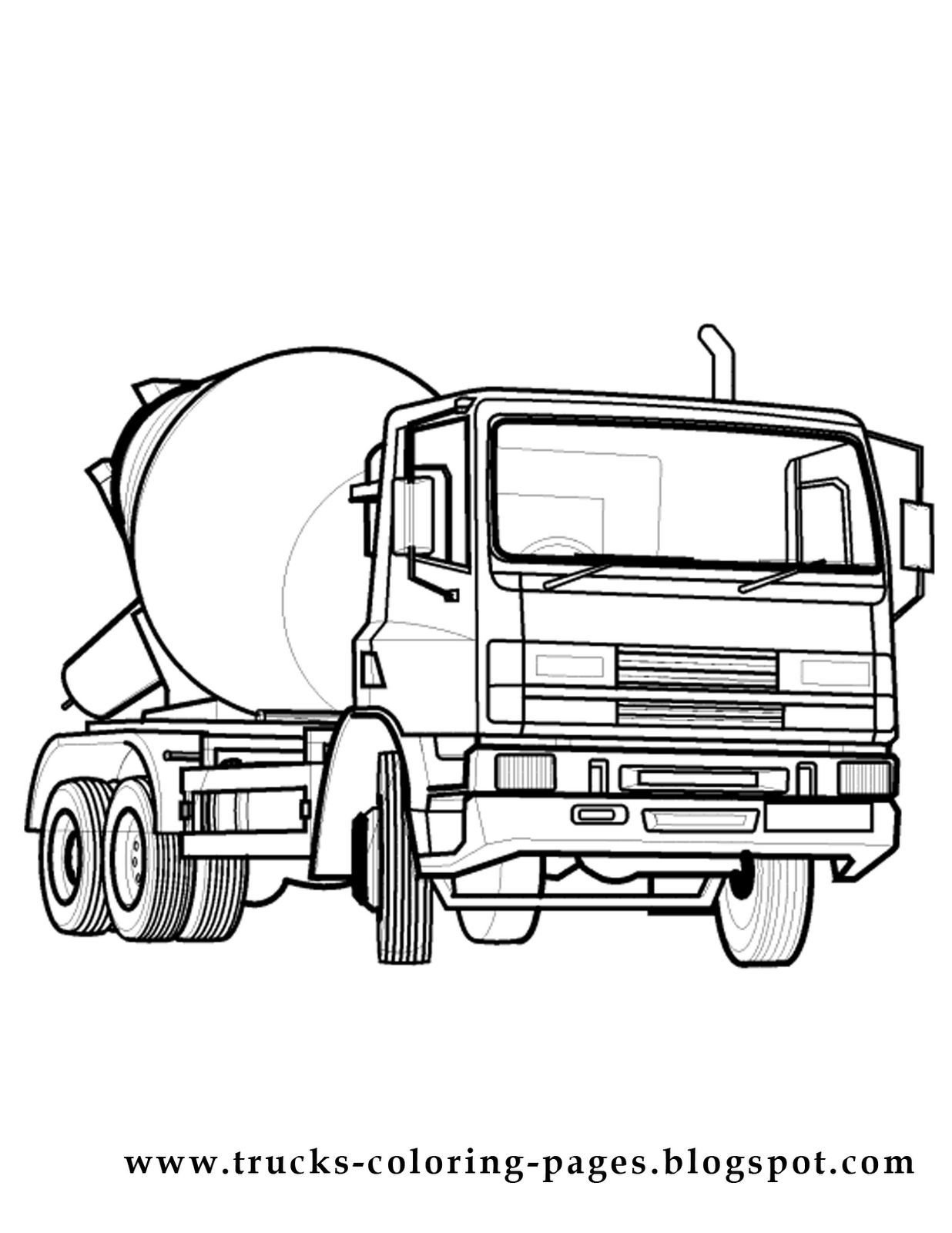 1236x1600 Truck Coloring Pages