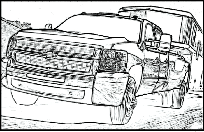 700x454 Silverado Coloring Pages Chevy Coloring Pages