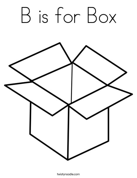 468x605 B Is For Box Coloring Page