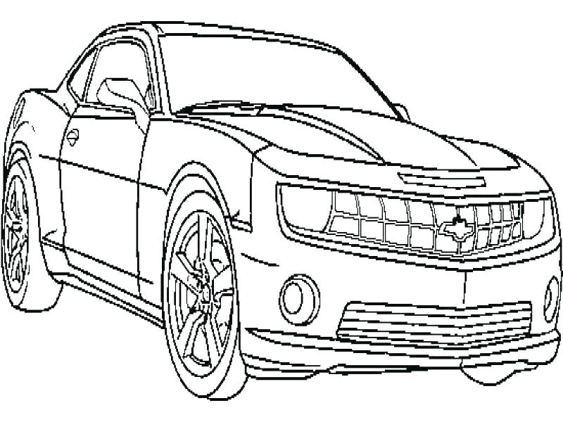 800x600 Camaro Coloring Page Coloring Pages For Boys Chevy Camaro