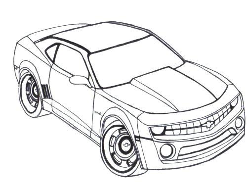 500x394 Camaro Coloring Pages Racing Car Coloring Page Camaro Coloring
