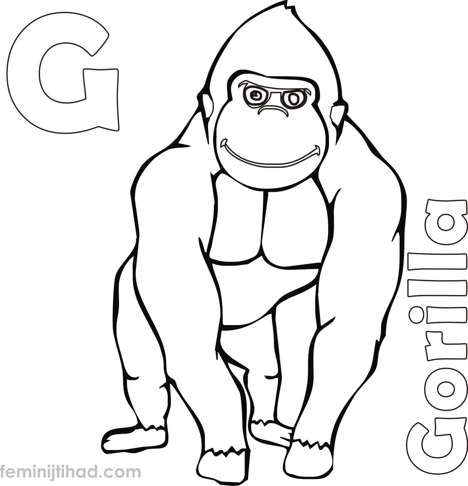 1498x1555 Cool Gorilla Coloring Pictures Silverback Page Free Pages