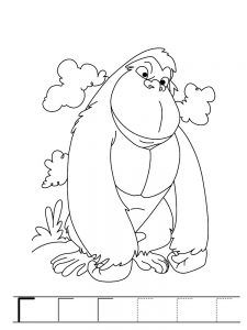 225x300 Gorilla Coloring Pages