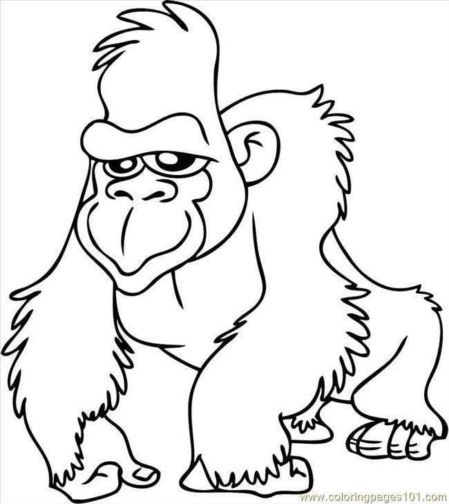 650x729 Coloring Page Free Gorilla Coloring Pages Gorilla