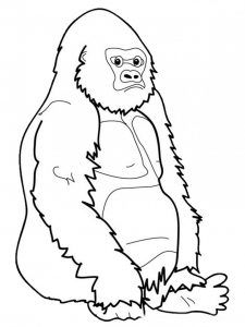 225x300 Best Gorilla Coloring Pages Images On Kindergarten