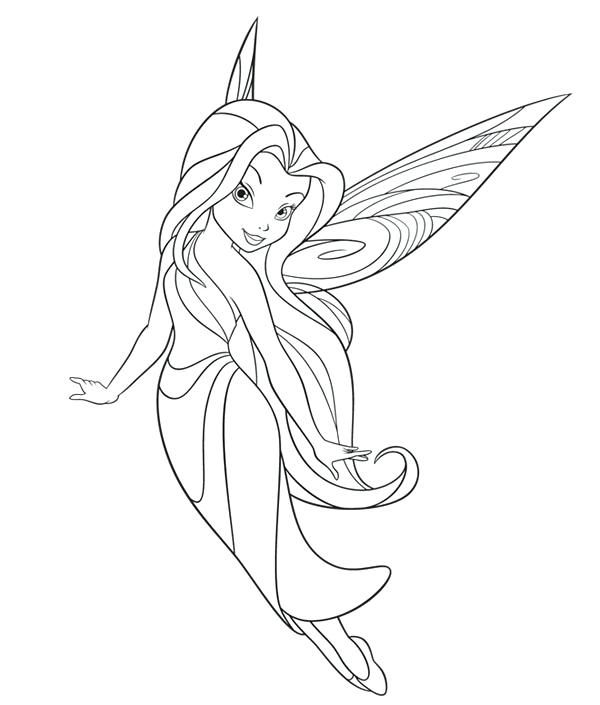 600x705 Fairies Coloring Pages Printable Free Fairies Free Coloring
