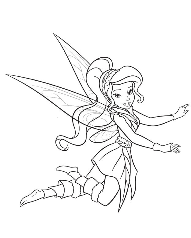 624x776 Fawn Fairy Coloring Pages