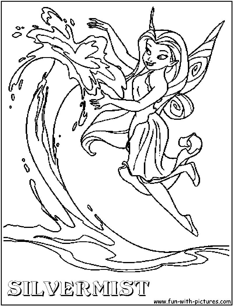 800x1050 Stunning Disney Fairies Coloring Pages Silvermist