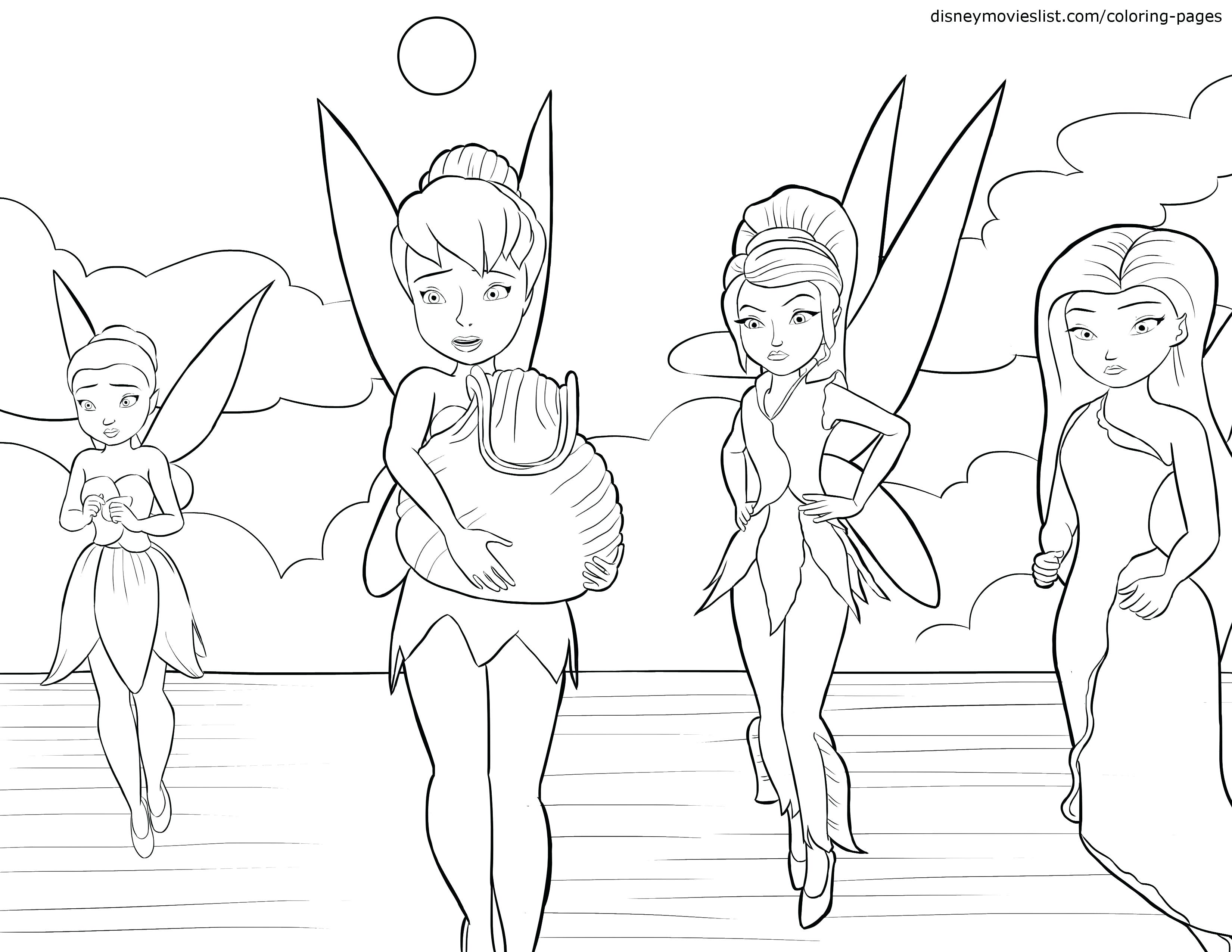 3300x2550 Tinkerbell And Fawn Silvermist In Disney Fairies Coloring Page